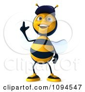 Clipart 3d Mechanic Bee Pointing Up Royalty Free CGI Illustration by Julos