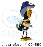 Clipart 3d Mechanic Bee Facing Right 1 Royalty Free CGI Illustration by Julos