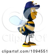 Clipart 3d Mechanic Bee Facing Right 2 Royalty Free CGI Illustration by Julos