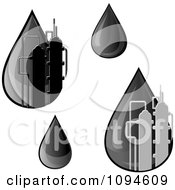Clipart Petrol Oil Drops Royalty Free Vector Illustration