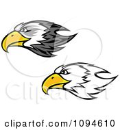 Clipart Bald Eagle Heads Royalty Free Vector Illustration