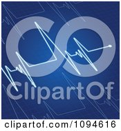 Clipart Blue Heart Beat Cardiogram Royalty Free Vector Illustration