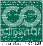 Clipart Seamless Math Formulas Written On A Chalkboard Royalty Free Vector Illustration by Vector Tradition SM