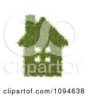 Clipart 3d Grass House Royalty Free CGI Illustration by Mopic
