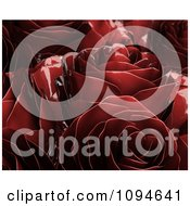 Clipart 3d Red Metal Roses Royalty Free CGI Illustration