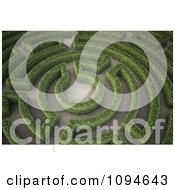 Clipart 3d Hedges Forming A Maze In A Garden Royalty Free CGI Illustration #1094643 by Mopic