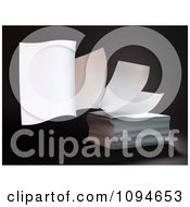 Clipart 3d Pages Floating Off Of A Stack Royalty Free CGI Illustration