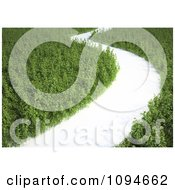 Clipart Foot Path Through A 3d Meadow Royalty Free CGI Illustration