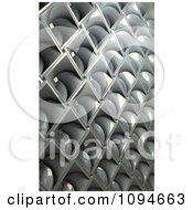 Clipart 3d Metal Diamond Pattern Background Royalty Free CGI Illustration