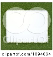 Clipart 3d Grass Frame Around White Space Royalty Free CGI Illustration by Mopic