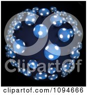 Clipart 3d Glowing Blobs In A Fisheye Perspective Royalty Free CGI Illustration