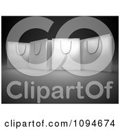 Clipart 3d White Shopping Bags On Black And Gray Royalty Free CGI Illustration by Mopic