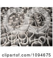 Clipart 3d Silver Numbers Royalty Free CGI Illustration