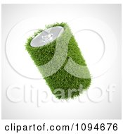 Clipart 3d Grassy Battery Royalty Free CGI Illustration