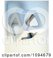 Clipart 3d Hollow Cube Floating Royalty Free CGI Illustration by Mopic