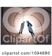 Clipart Silhouetted Couple In A Tunnel Royalty Free CGI Illustration by Mopic