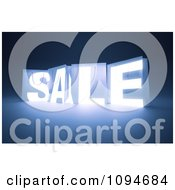 Clipart 3d Glowing SALE Shopping Bags On Blue Royalty Free CGI Illustration by Mopic