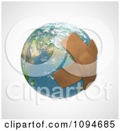 Clipart 3d Bandages Over Earth Royalty Free CGI Illustration