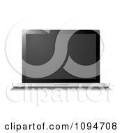 Clipart 3d Slim Laptop Computer With A Blank Screen Royalty Free Vector Illustration by michaeltravers