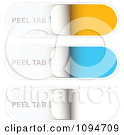 Clipart Yellow Blue And White Peel Tab Design Elements Royalty Free Vector Illustration