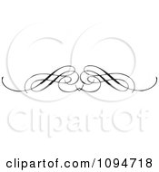 Clipart Black And White Ornate Swirl Rule Or Border 1 Royalty Free Vector Illustration by BestVector #COLLC1094718-0144