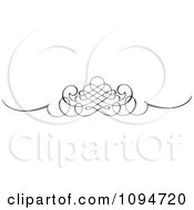 Clipart Black And White Ornate Swirl Rule Or Border 3 Royalty Free Vector Illustration