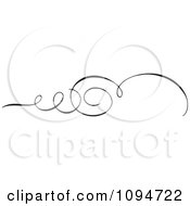 Clipart Black And White Ornate Swirl Rule Or Border 5 Royalty Free Vector Illustration