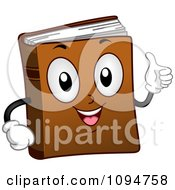 Clipart Happy Dictionary Book Holding A Thumb Up Royalty Free Vector Illustration