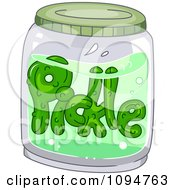 Clipart Pickle Floating In A Jar Royalty Free Vector Illustration