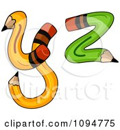 Clipart Pencils Forming Y And Z Royalty Free Illustration by BNP Design Studio