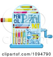 Clipart Pencil Day Sharpener Royalty Free Vector Illustration