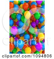 Clipart 3d Background Of Colorful Party Balloons Royalty Free CGI Illustration