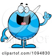 Clipart Planet Uranus With An Idea Royalty Free Vector Illustration
