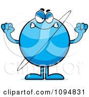 Clipart Mad Planet Uranus Royalty Free Vector Illustration