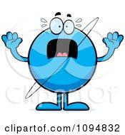 Clipart Scared Planet Uranus Royalty Free Vector Illustration