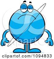 Clipart Sad Planet Uranus Royalty Free Vector Illustration