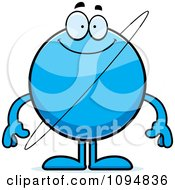Clipart Smiling Planet Uranus Royalty Free Vector Illustration
