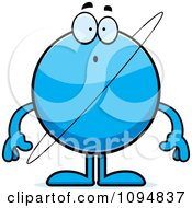 Clipart Surprised Planet Uranus Royalty Free Vector Illustration