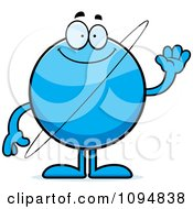 Clipart Waving Planet Uranus Royalty Free Vector Illustration