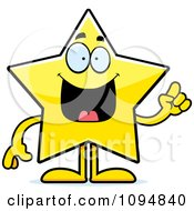 Clipart Star Character With An Idea Royalty Free Vector Illustration