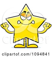 Clipart Mad Star Character Royalty Free Vector Illustration