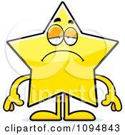 Clipart Sad Star Character Royalty Free Vector Illustration