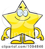 Clipart Smiling Star Character Royalty Free Vector Illustration