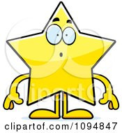 Clipart Surprised Star Character Royalty Free Vector Illustration