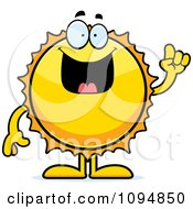 Clipart Sun With An Idea Royalty Free Vector Illustration by Cory Thoman