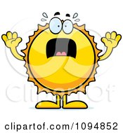Clipart Scared Sun Royalty Free Vector Illustration by Cory Thoman