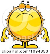 Clipart Depressed Sun Royalty Free Vector Illustration by Cory Thoman