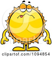Clipart Sick Sun Royalty Free Vector Illustration by Cory Thoman