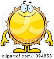 Clipart Smiling Sun Royalty Free Vector Illustration