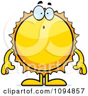 Clipart Surprised Sun Royalty Free Vector Illustration by Cory Thoman
